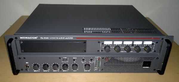 MONACOR PA-5240 Hangosító központ